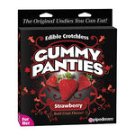 Edible Crotchless Gummy Panties-Strawberry - Lights Off