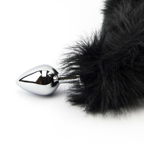 Furry Fantasy Black Panther Tail Butt Plug - Lights Off