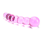 Spectrum Ribbed Glass Dildo - Lights Off