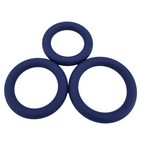 Loving Joy Thick Silicone Cock Rings 3 Pack - Lights Off