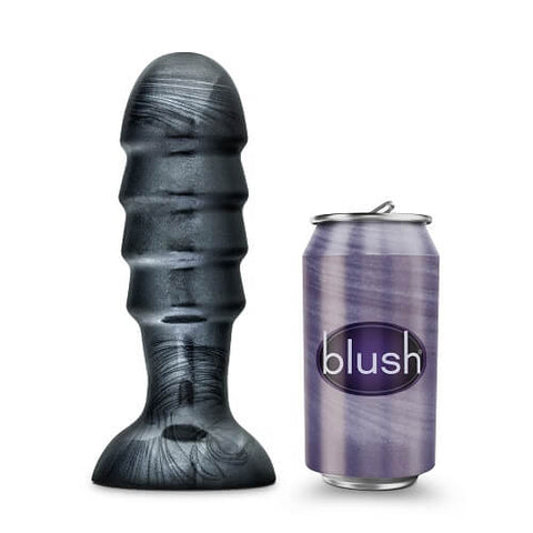 Jet Bruiser Large Ridged Butt Plug 7.5 Inches - Lights Off