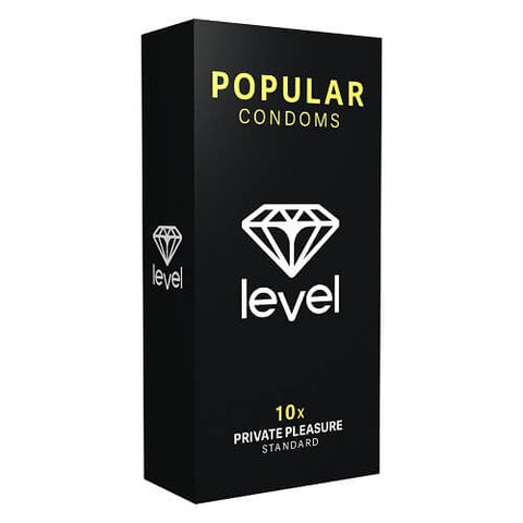 Level Popular Condoms 10 Pack - Lights Off