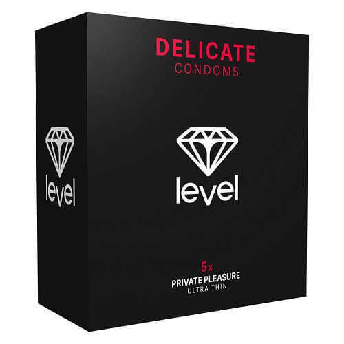 Level Delicate Condoms 5 Pack - Lights Off