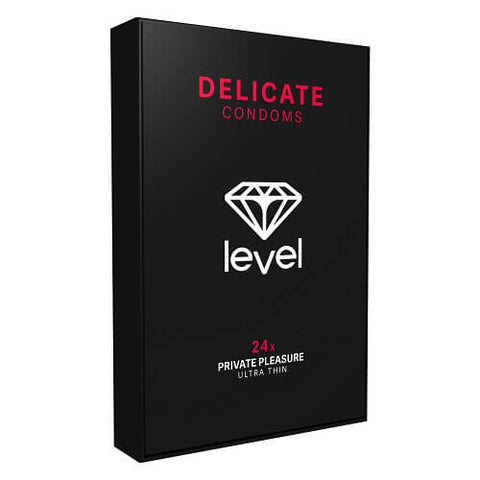 Level Delicate Condoms 24 Pack - Lights Off