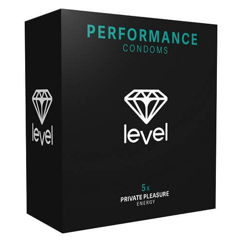 Level Performance Condoms 5 Pack - Lights Off