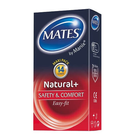 Mates Natural Condoms 14 Pack - Lights Off