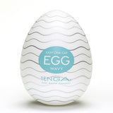 TENGA Wavy Egg Shaped Male Masturbator - Lights Off