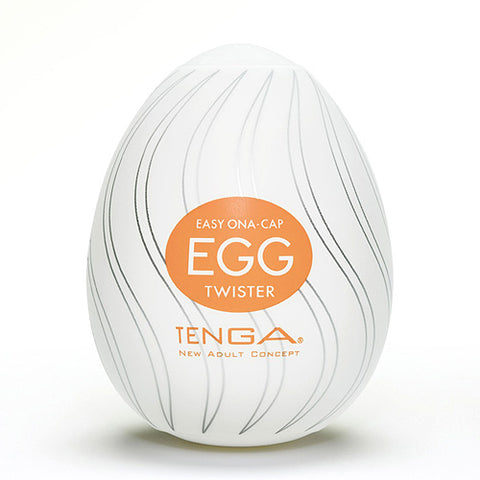 TENGA Twister Egg Shaped Male Masturbator - Lights Off