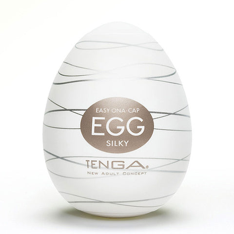 TENGA Silky Egg Shaped Male Masturbator - Lights Off