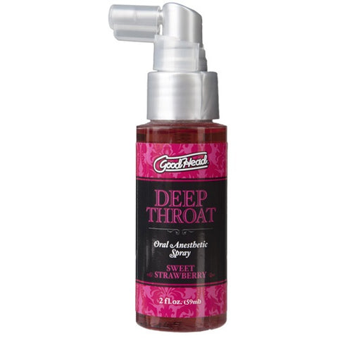 Doc Johnson Good Head Deep Throat Spray Sweet Strawberry - Lights Off
