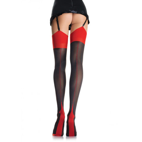 Leg Avenue Opaque 2 Tone Stockings - Lights Off