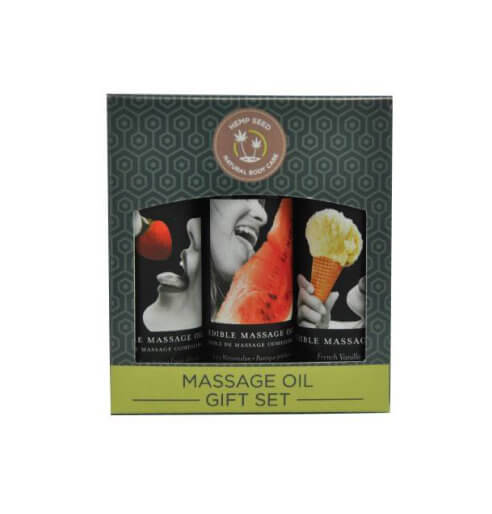 Earthly Body Edible Massage Oil Gift Set Box - Lights Off
