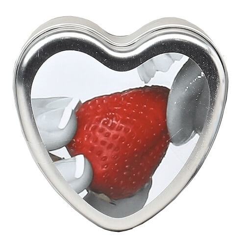 Earthly Body 3 in 1 Edible Massage Heart Candle - Lights Off