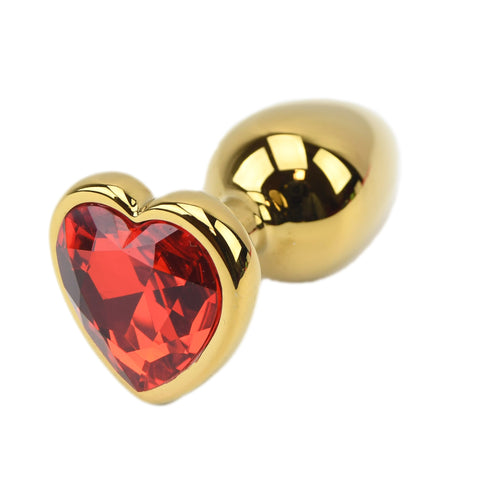 Precious Metals Heart Shaped Butt Plug-Gold - Lights Off