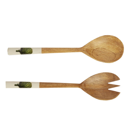 Artichoke Wooden Salad Servers - Club Matters - Tableware - Serveware