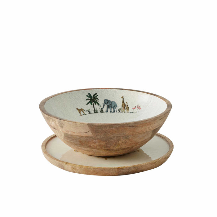 Out Out of Africa Wooden Salad Bowl- Club Matters- African Bowl - Tableware - Serveware