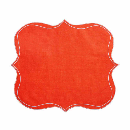 Italian linen placemats - orange - club matters
