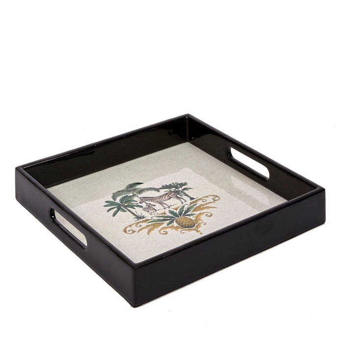 Zebra Lacquered Cocktail Tray - club matters