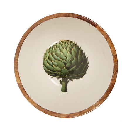 Artichoke Wooden Salad Bowl - club matters