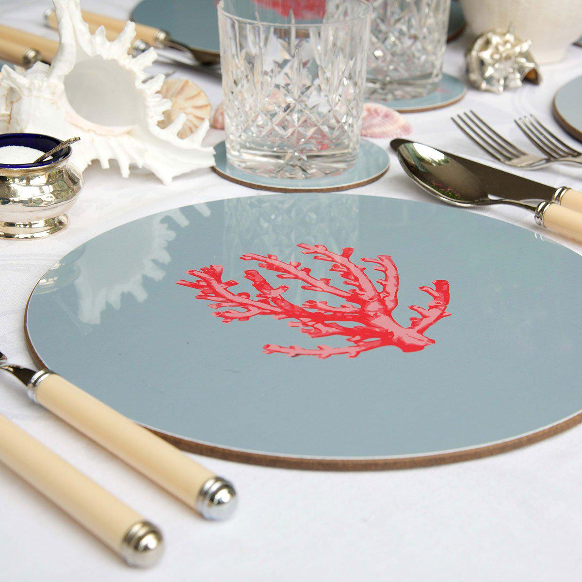 Coral Table Mats - Bespoke Table Mats - Tableware  - Club Matters