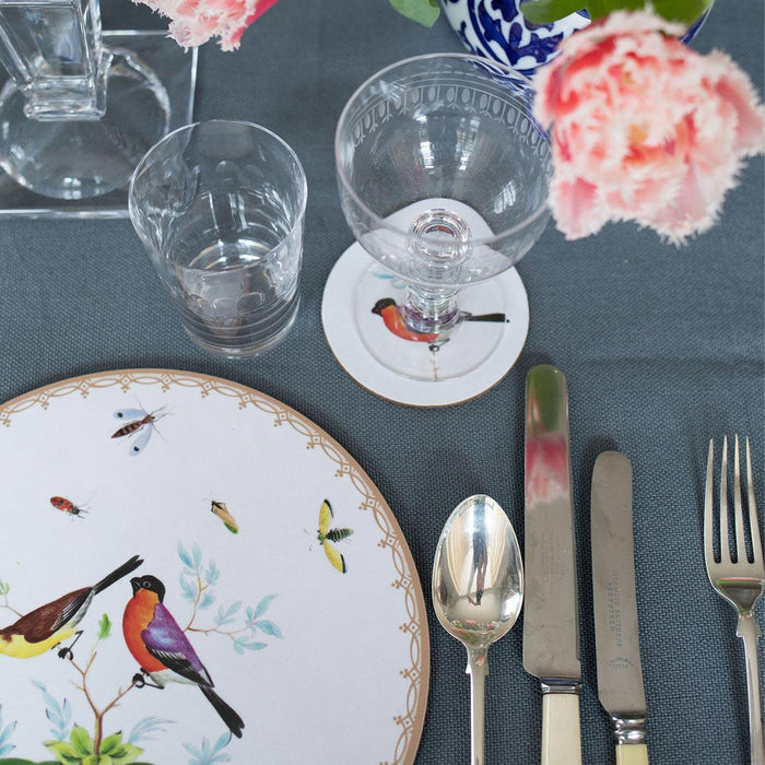Exotic Birds Table Mats - club matters - exclusive design - handmade in the uk