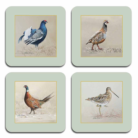 Game Birds Coasters - club matters