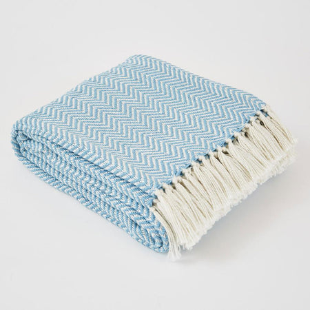 Herringbone Blanket Azure- Club Matters- Tableware - Blanket - Al Fresco