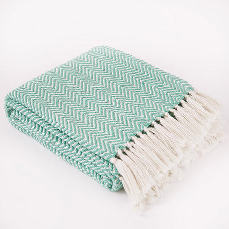 Herringbone Blanket Green- Club Matters- African Bowl - Tableware - Blankets & Throws