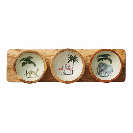 Out of Africa Nibble Bowl With Tray - Club Matters- African Bowl - Tableware - Serveware