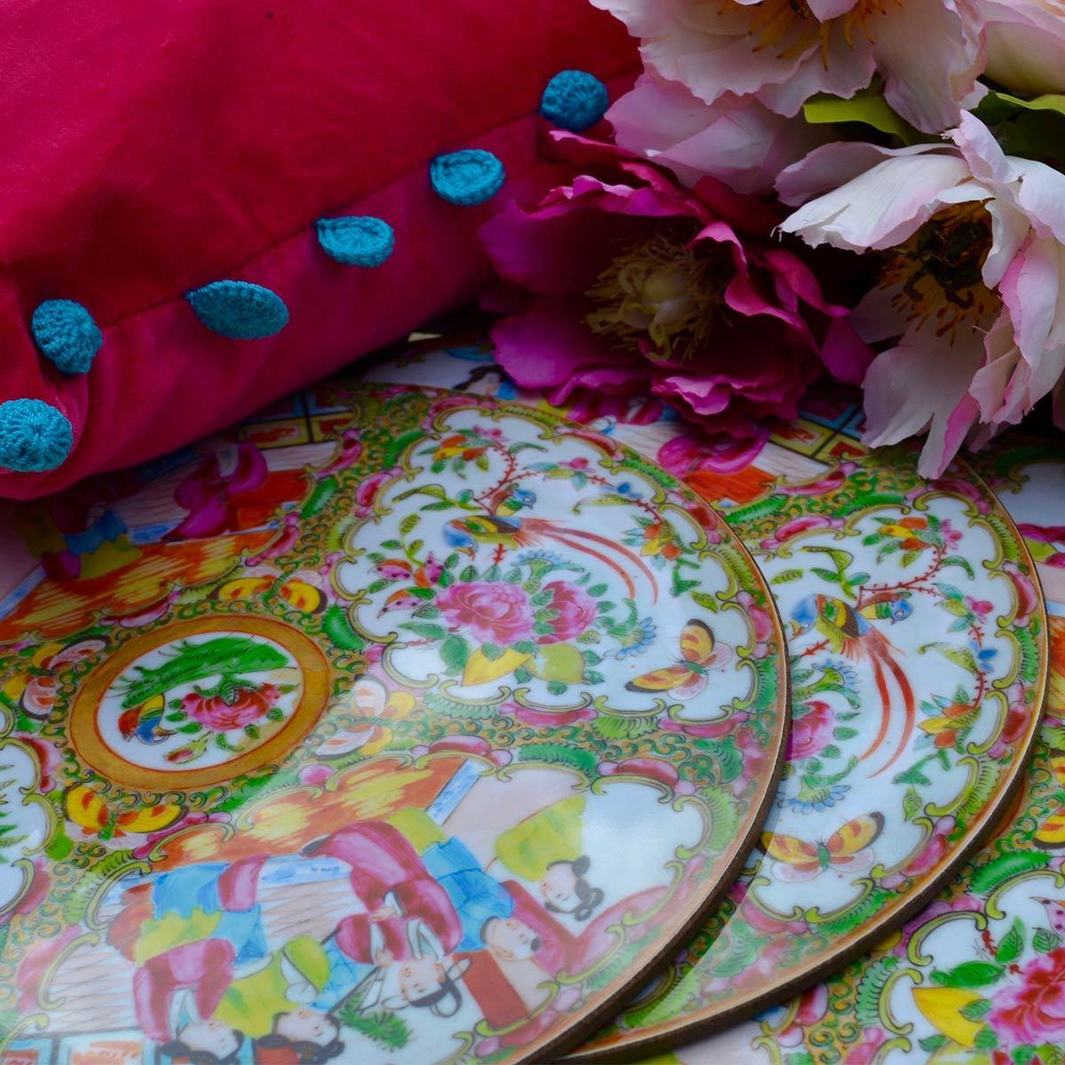 Chinese Famille Rose Table Mats - club matters