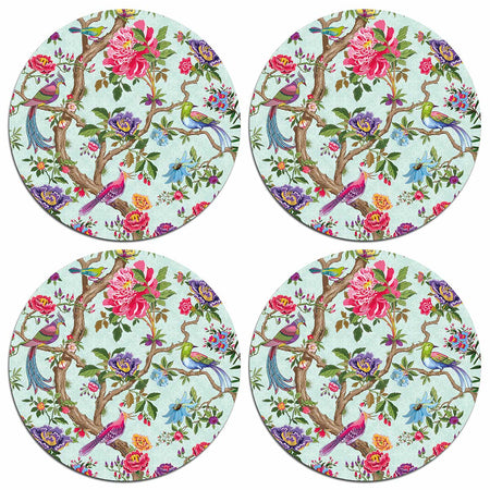 Chinoiserie Birds Table Mats - club matters