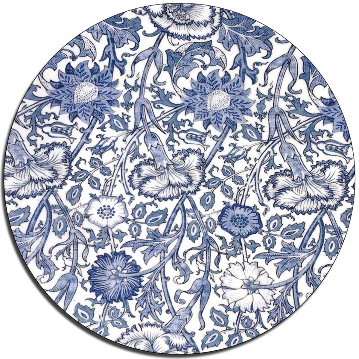 Cornflower Blue Glass Platter - club matters