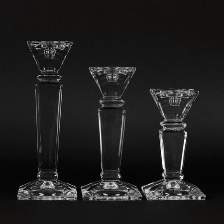 Crystal Glass Candlesticks - club matters