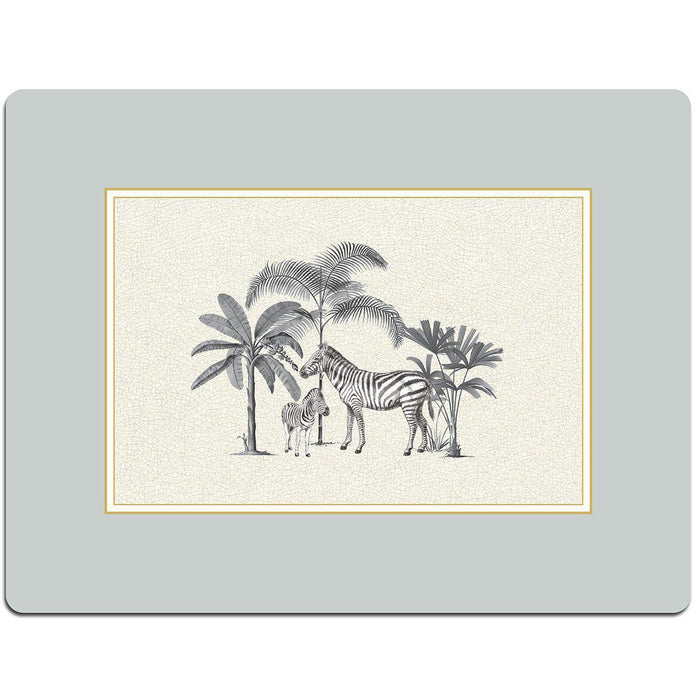 Dove Grey Harlequin Serving Mat - Zebra - club matters