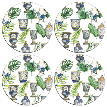 Fern and Urn Table Mats - club matters