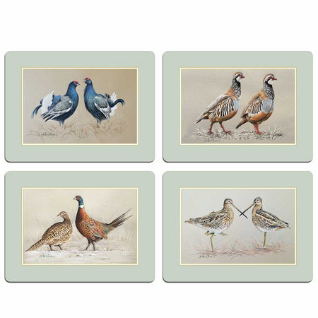 Game Birds Table Mats - club matters