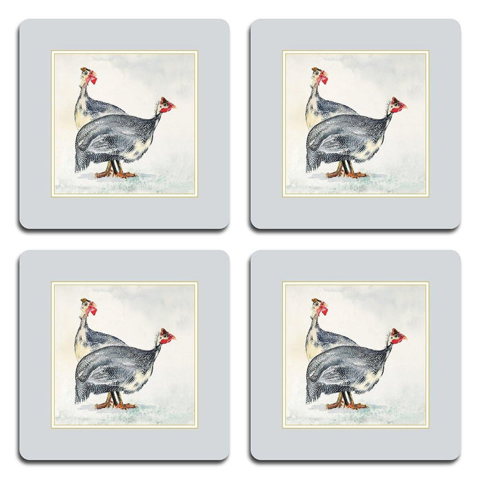 Guinea Fowl Coasters - club matters