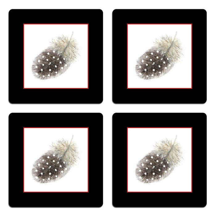 Guinea Fowl Feather Coasters - club matters