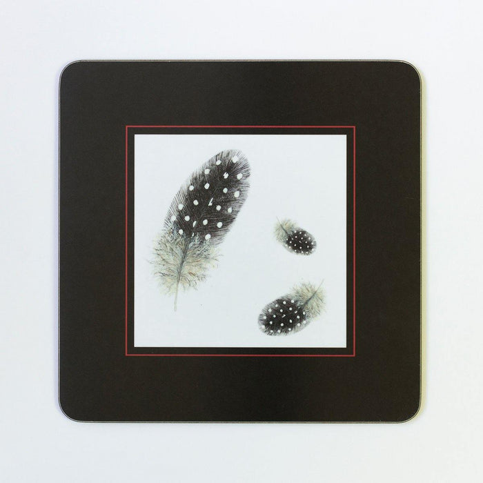 Guinea Fowl Feather Table Mats - club matters