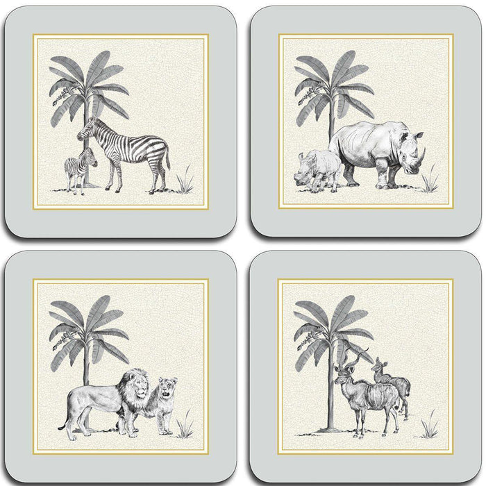 Harlequin Coasters - Dove Grey - club matters