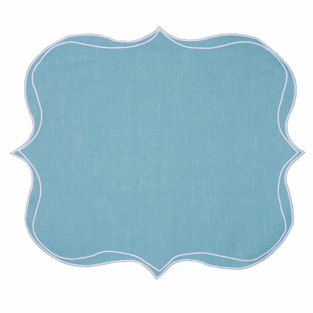 Iona Waxed Italian Linen Placemat - Teal - club matters