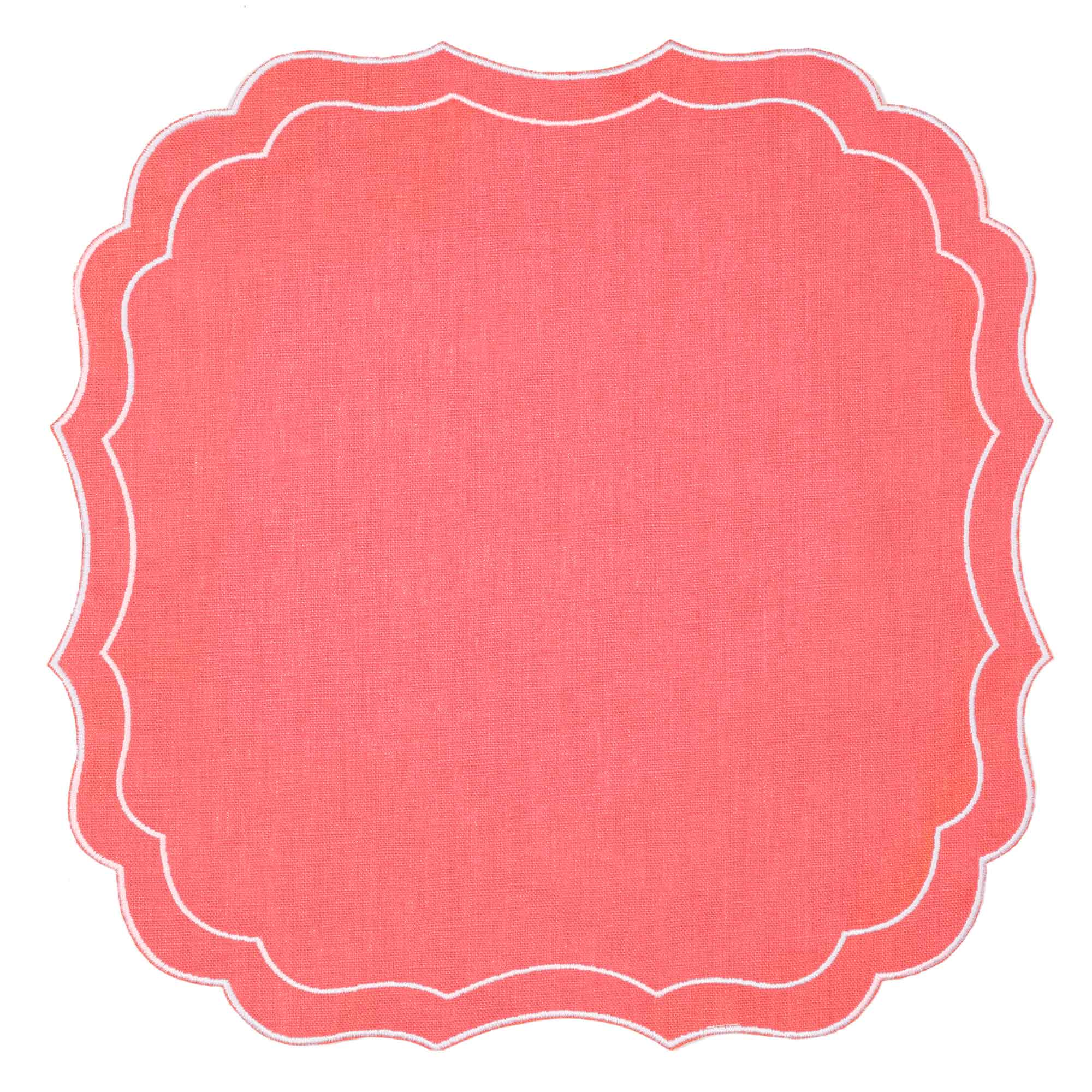 Mull Waxed Italian Linen Placemat - Orange - club matters