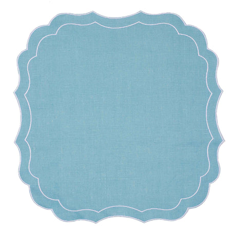 Mull Waxed Italian Linen Placemat - Teal - club matters