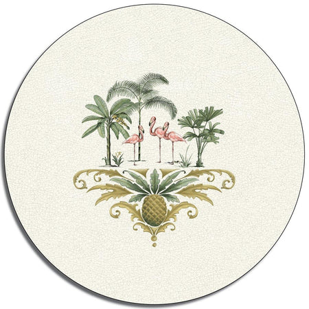 Out of Africa Flamingo Glass Platter - club matters