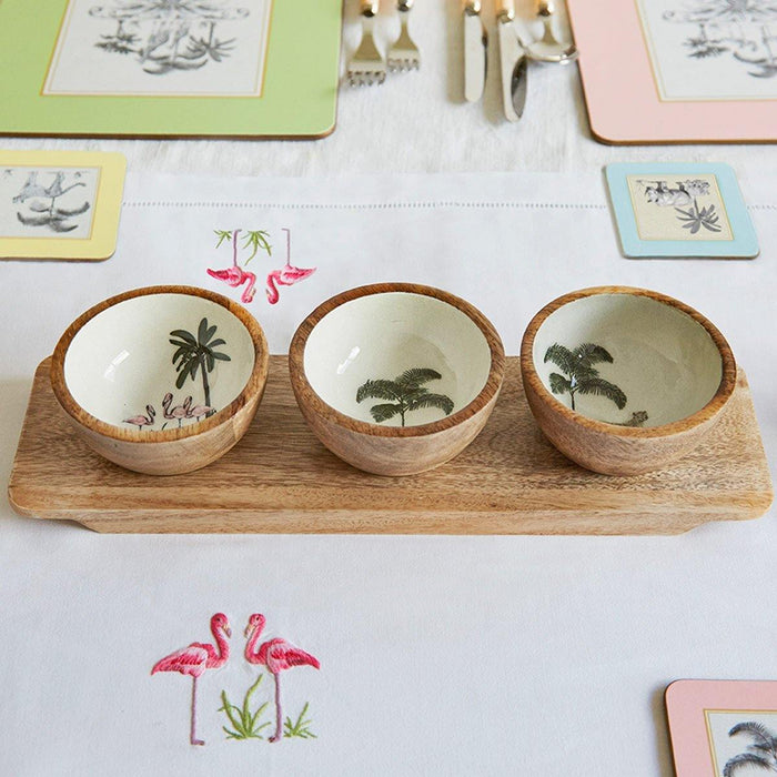 Out of Africa Nibble Bowl With Tray - club matters