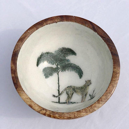 Out of Africa Wooden Nibble Bowl - club matters