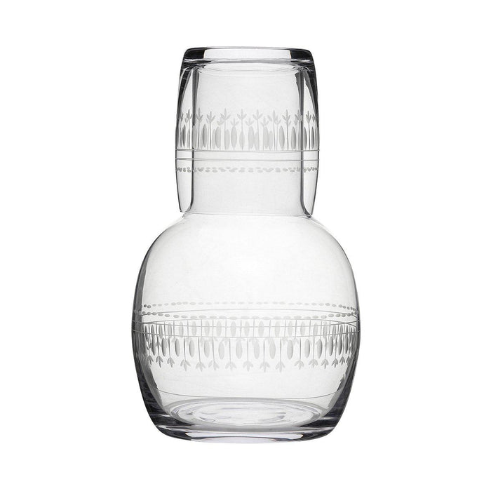 Ovals Crystal Carafe And Glass - club matters
