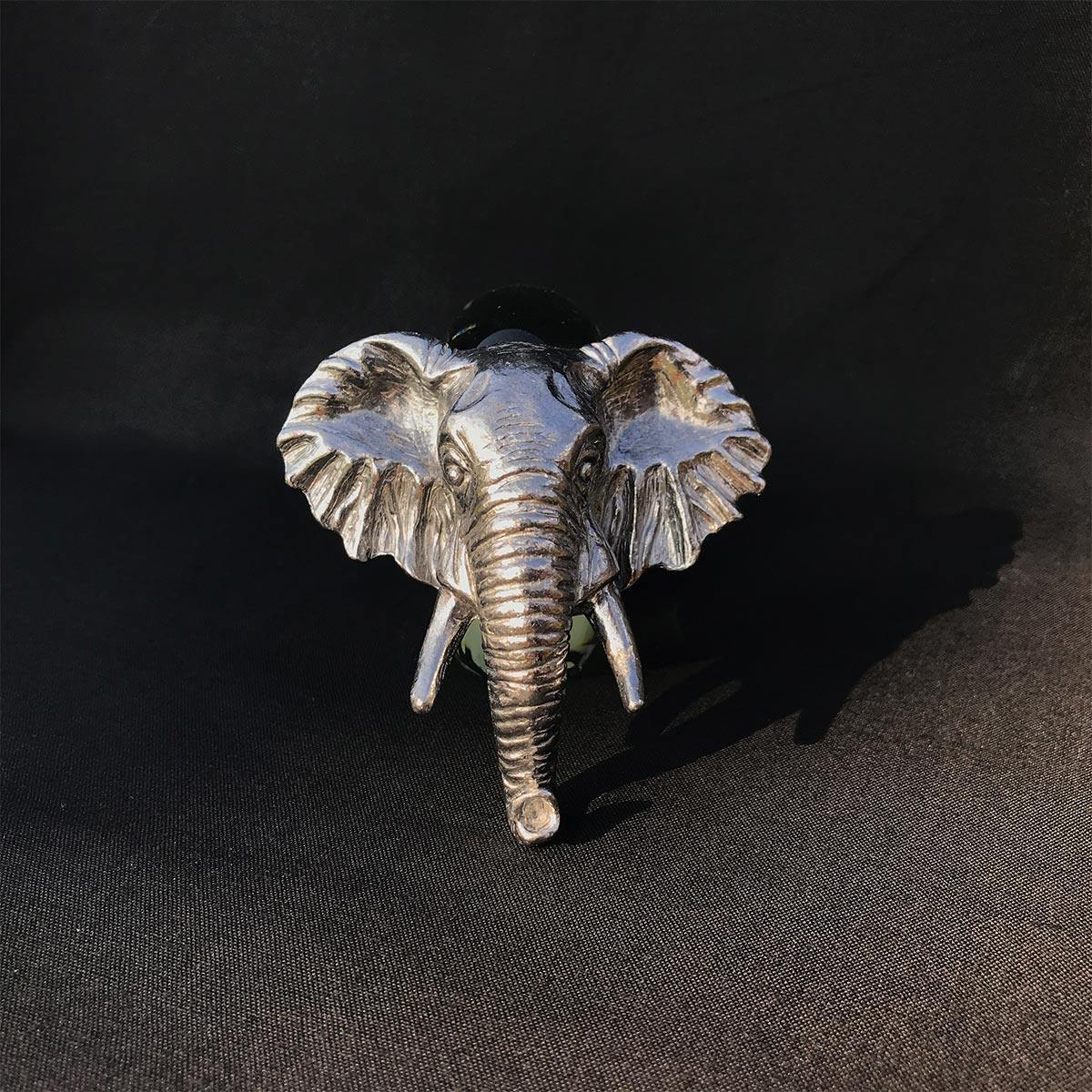 Pewter and Glass Napkin Ring Elephant - club matters