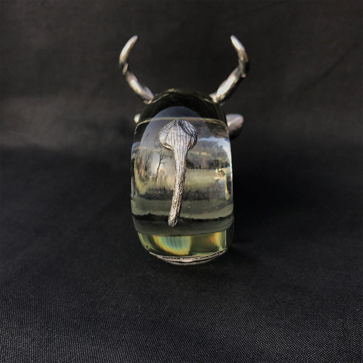 Pewter and Glass Napkin Ring Kudu - club matters