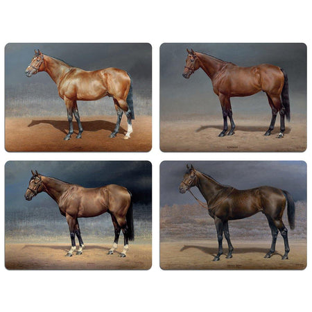 Susan Crawford Race Horse Table Mats - Set 1 - club matters